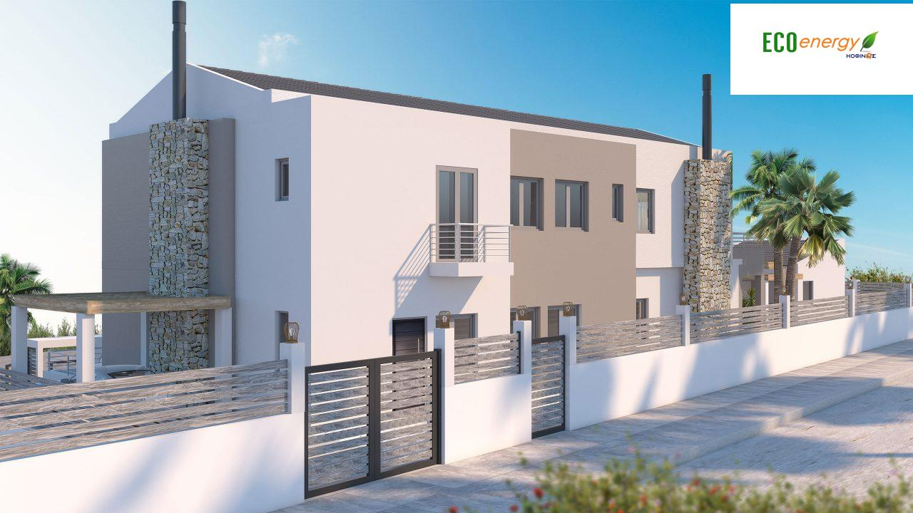 Two-story house D-402, with a total area of 402,45 sq.m. ,roofed areas 104,91 m²,balconies 49.96 m²1