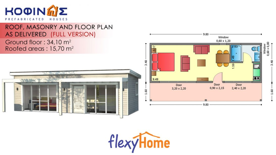 1-story Flexyhome IF-34