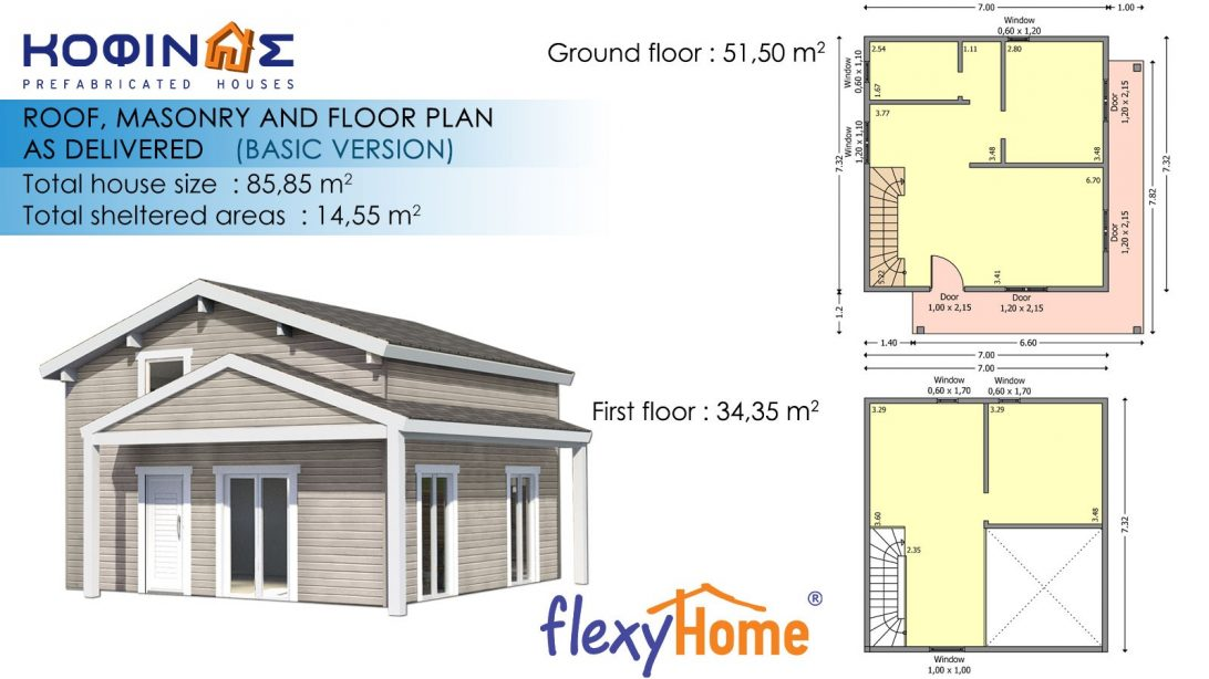 1-story with attic Flexyhome-ISF -85