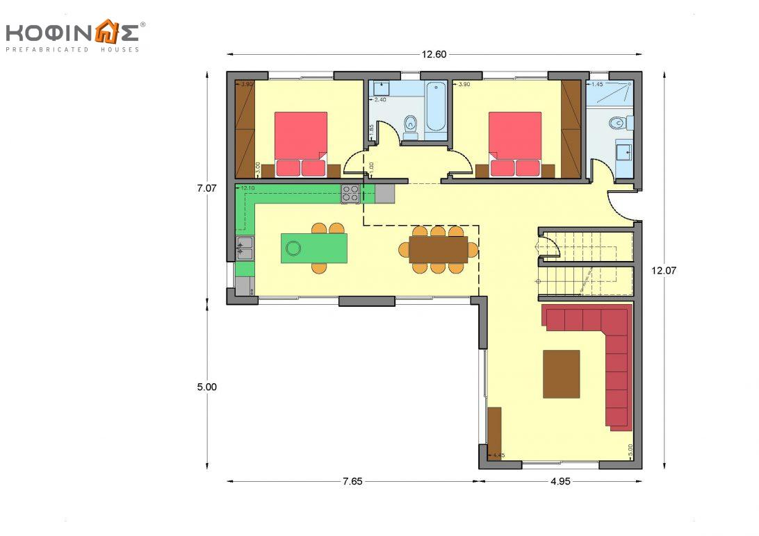 Two-story house D-189, with a total area of ​​189.61 sq.m.