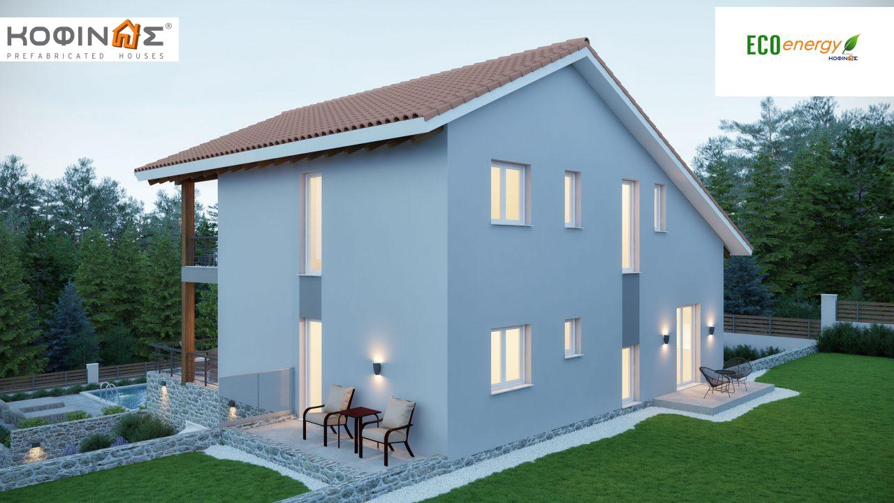 Two story house D-262, total surface 262.37 m²0
