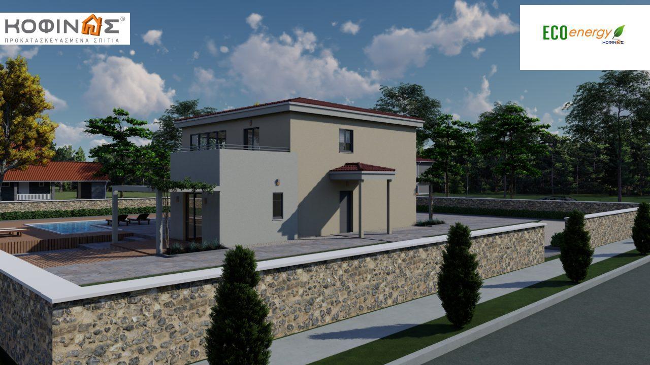 Διώροφη κατοικία D 209, συνολικής επιφάνειας 209,58 τ.μ., στεγασμένοι χώροι 42,84 τ.μ., και μπαλκόνι (περίπτωση Β) 16.56 τ.μ.14