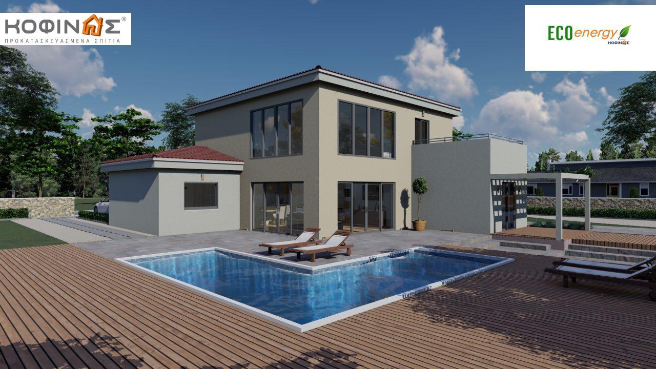 Διώροφη κατοικία D 209, συνολικής επιφάνειας 209,58 τ.μ., στεγασμένοι χώροι 42,84 τ.μ., και μπαλκόνι (περίπτωση Β) 16.56 τ.μ. featured image