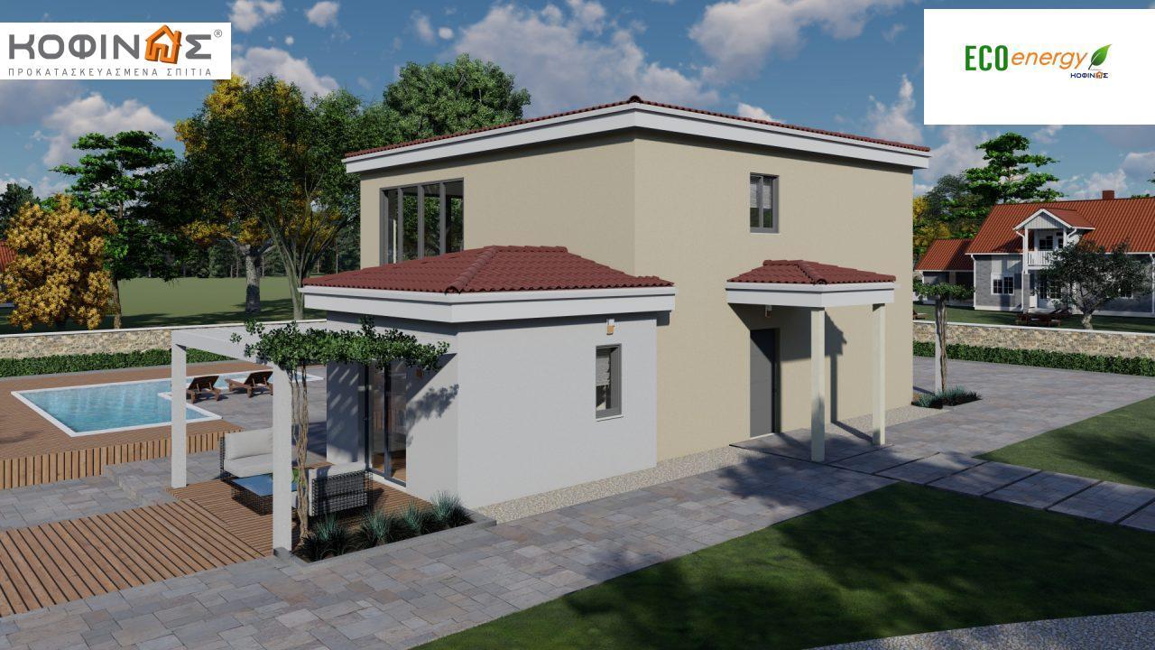 Διώροφη κατοικία D 209, συνολικής επιφάνειας 209,58 τ.μ., στεγασμένοι χώροι 42,84 τ.μ., και μπαλκόνι (περίπτωση Β) 16.56 τ.μ.0