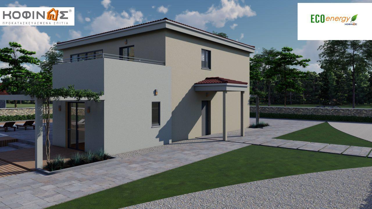 Διώροφη κατοικία D 209, συνολικής επιφάνειας 209,58 τ.μ., στεγασμένοι χώροι 42,84 τ.μ., και μπαλκόνι (περίπτωση Β) 16.56 τ.μ.12