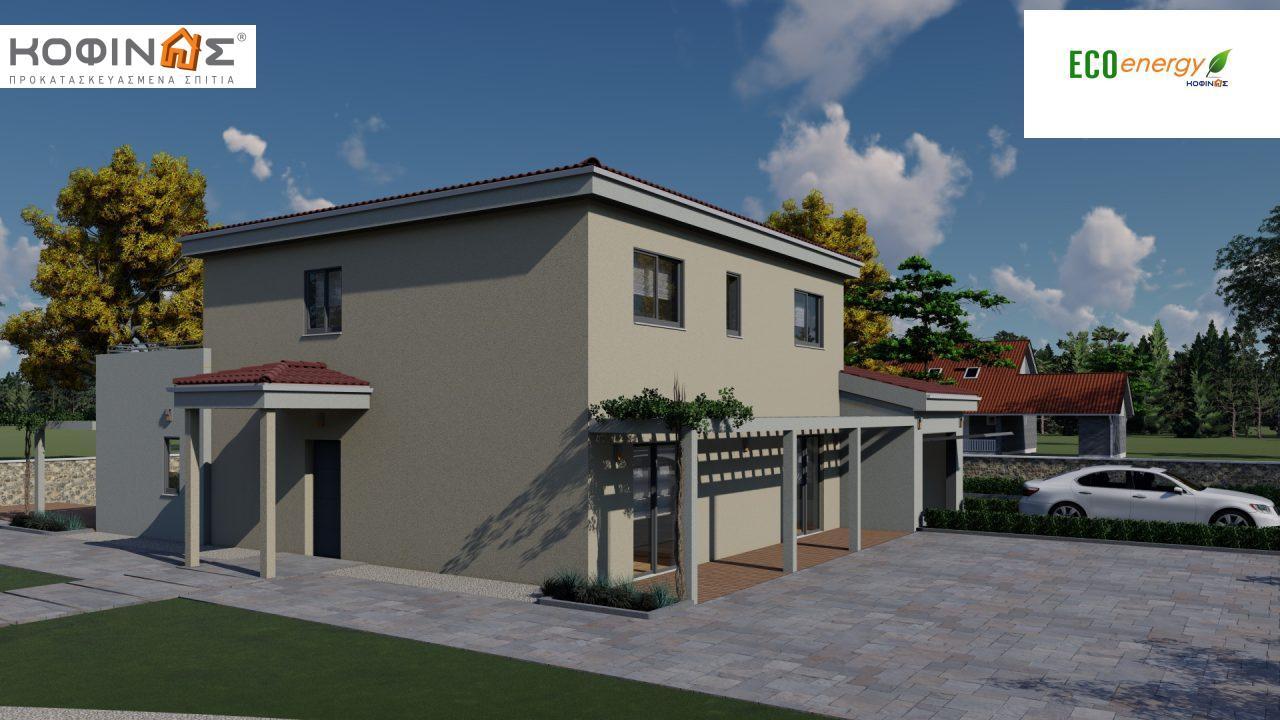 Διώροφη κατοικία D 209, συνολικής επιφάνειας 209,58 τ.μ., στεγασμένοι χώροι 42,84 τ.μ., και μπαλκόνι (περίπτωση Β) 16.56 τ.μ.13
