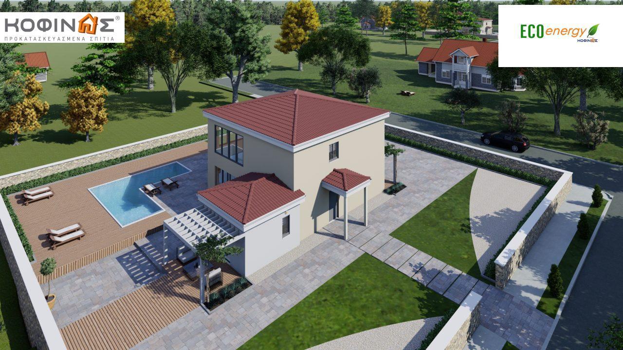 Διώροφη κατοικία D 209, συνολικής επιφάνειας 209,58 τ.μ., στεγασμένοι χώροι 42,84 τ.μ., και μπαλκόνι (περίπτωση Β) 16.56 τ.μ.4