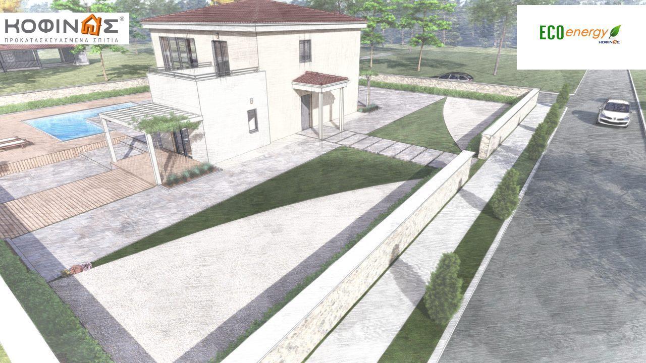 Διώροφη κατοικία D 209, συνολικής επιφάνειας 209,58 τ.μ., στεγασμένοι χώροι 42,84 τ.μ., και μπαλκόνι (περίπτωση Β) 16.56 τ.μ.20