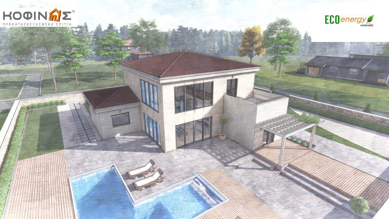 Διώροφη κατοικία D 209, συνολικής επιφάνειας 209,58 τ.μ., στεγασμένοι χώροι 42,84 τ.μ., και μπαλκόνι (περίπτωση Β) 16.56 τ.μ.22