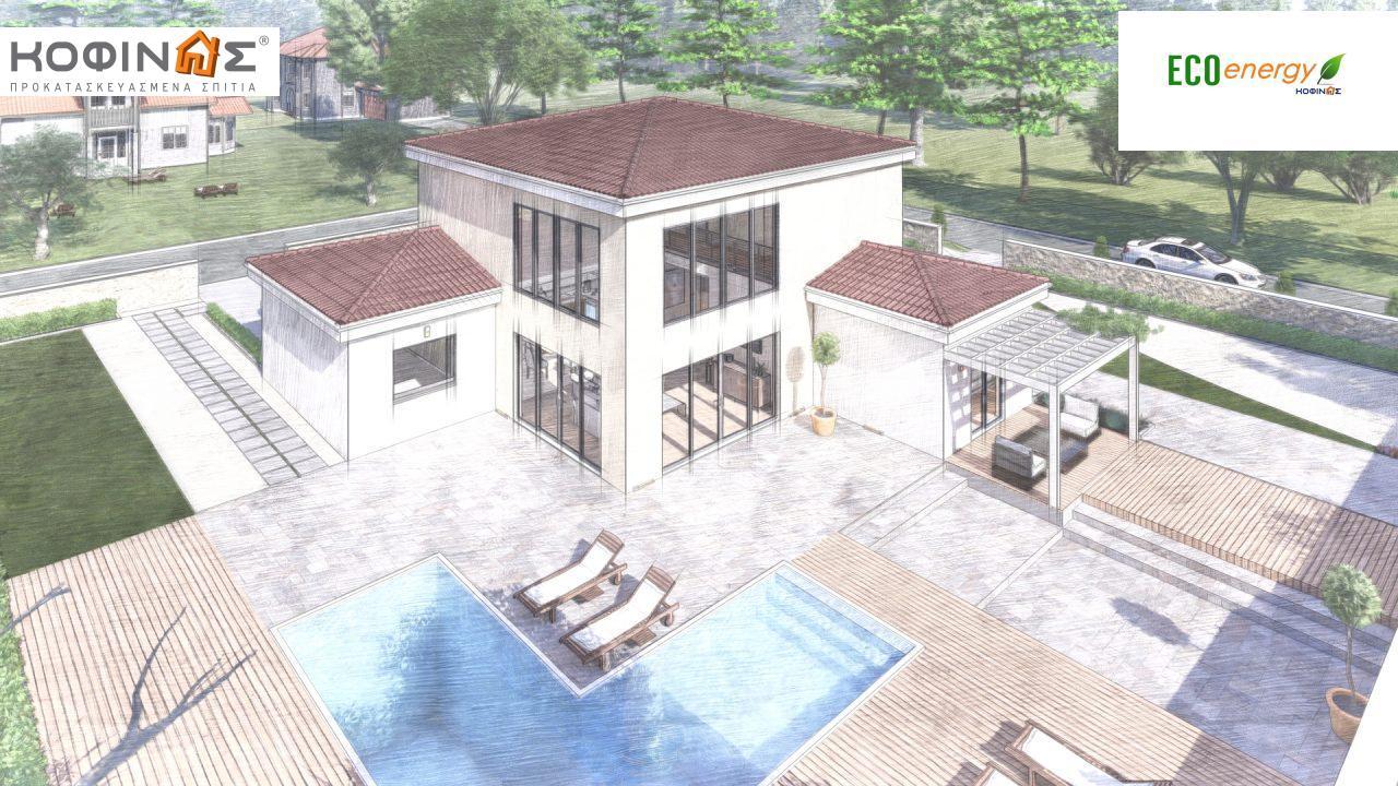 Διώροφη κατοικία D 209, συνολικής επιφάνειας 209,58 τ.μ., στεγασμένοι χώροι 42,84 τ.μ., και μπαλκόνι (περίπτωση Β) 16.56 τ.μ.8