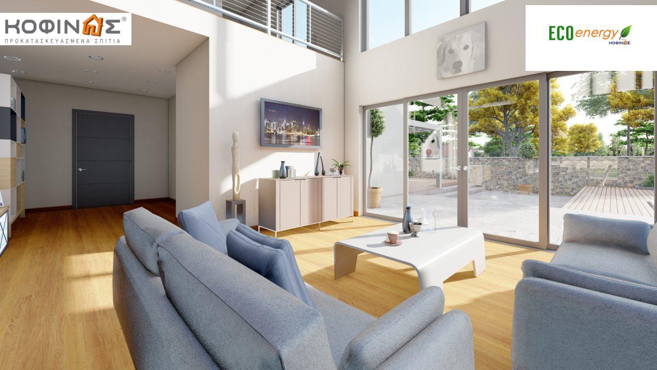 Διώροφη κατοικία D 209, συνολικής επιφάνειας 209,58 τ.μ., στεγασμένοι χώροι 42,84 τ.μ., και μπαλκόνι (περίπτωση Β) 16.56 τ.μ.10