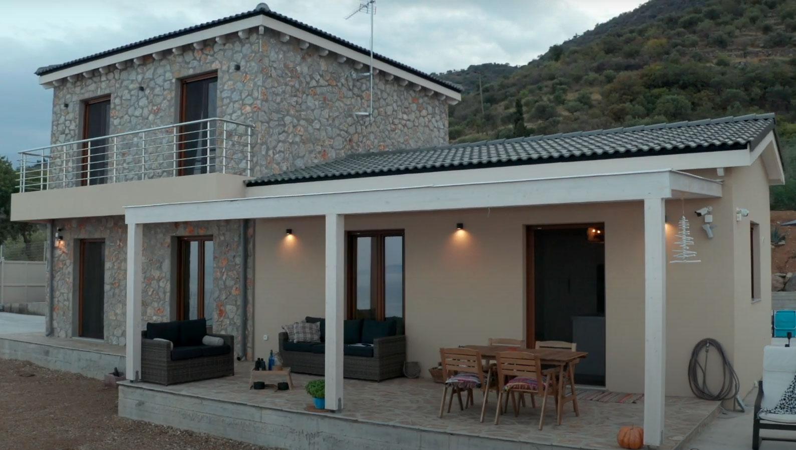 Prefabricated house of Kofinas S A at Tyros