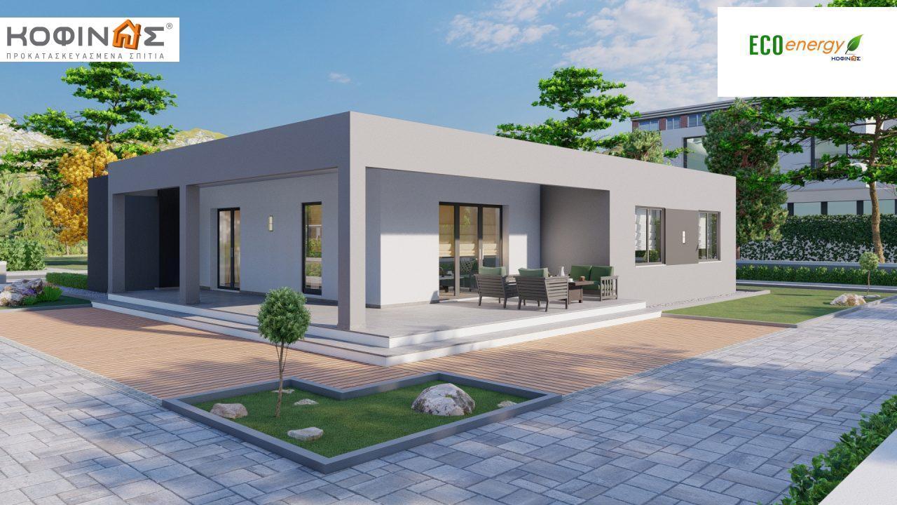 Ισόγεια Κατοικία I-119, συνολικής επιφάνειας 119,08 τ.μ., +Γκαράζ 25.80 m²(=144,88 m²),συνολική επιφάνεια στεγασμένων χώρων 47,64 τ.μ. featured image