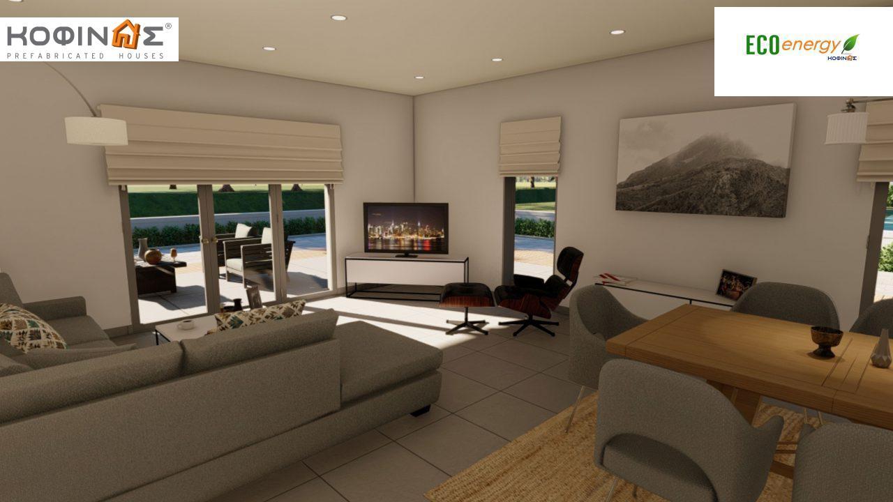 Ισόγεια Κατοικία I-119, συνολικής επιφάνειας 119,08 τ.μ., +Γκαράζ 25.80 m²(=144,88 m²),συνολική επιφάνεια στεγασμένων χώρων 47,64 τ.μ.8