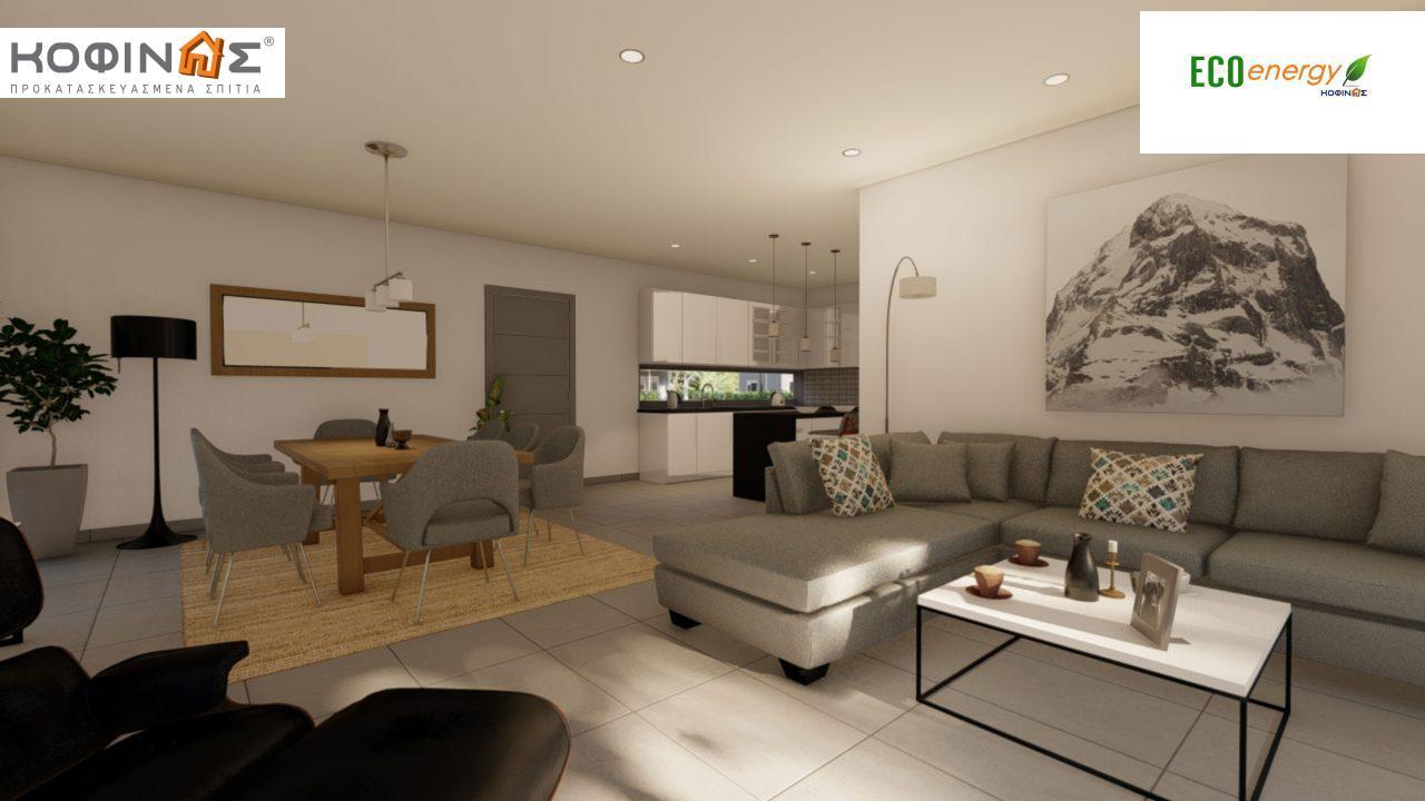 Ισόγεια Κατοικία I-119, συνολικής επιφάνειας 119,08 τ.μ., +Γκαράζ 25.80 m²(=144,88 m²),συνολική επιφάνεια στεγασμένων χώρων 47,64 τ.μ.9