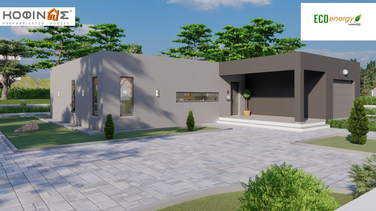 1-story house I-119, total surface of 119,08 m², roofed areas 47,64 m²0