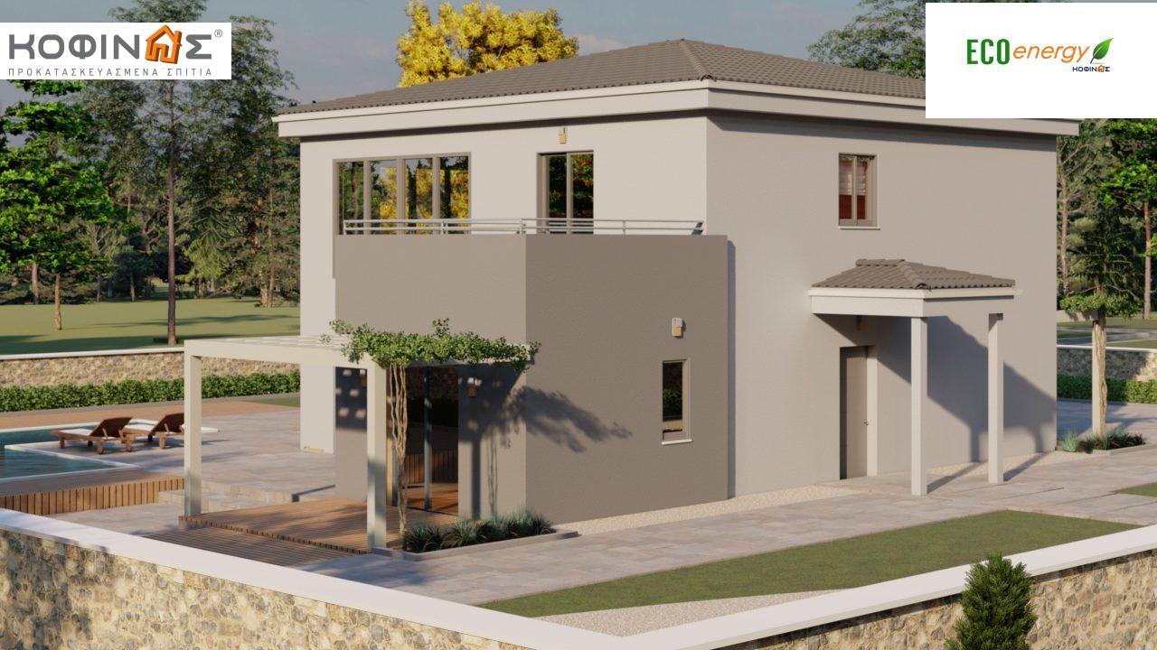 Διώροφη κατοικία D 183, συνολικής επιφάνειας 183,34 τ.μ.,+Γκαράζ 26,11 m²(=209,45 m²), στεγασμένοι χώροι 42,84 τ.μ., και μπαλκόνι (περίπτωση Β) 16.56 τ.μ.0