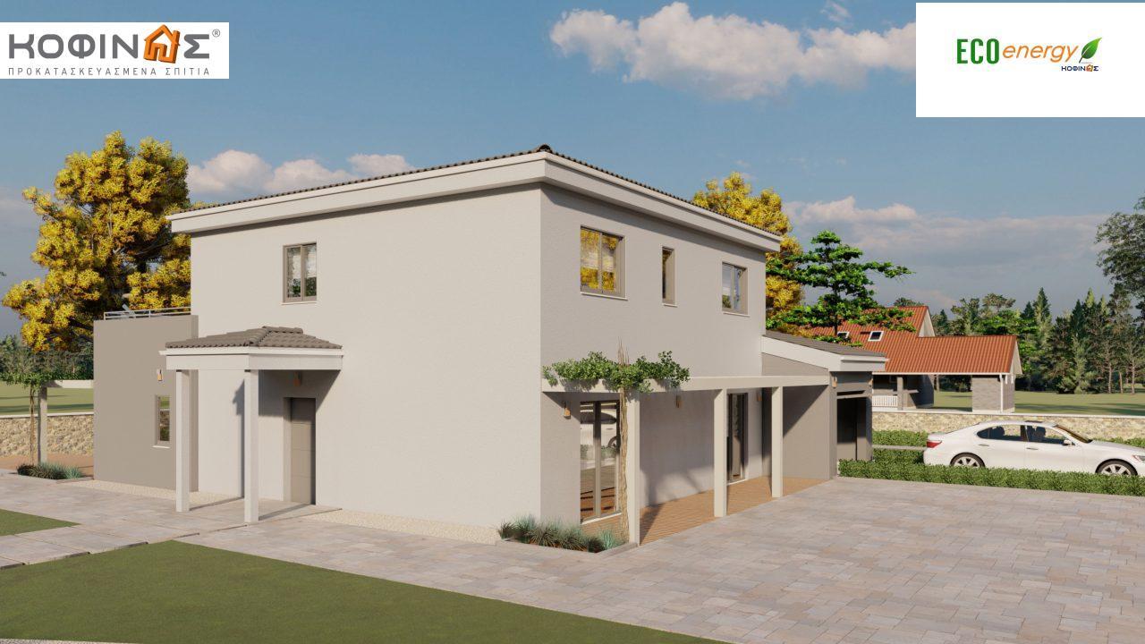 Διώροφη κατοικία D 183, συνολικής επιφάνειας 183,34 τ.μ.,+Γκαράζ 26,11 m²(=209,45 m²), στεγασμένοι χώροι 42,84 τ.μ., και μπαλκόνι (περίπτωση Β) 16.56 τ.μ.1