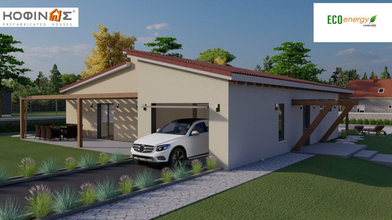 1-story house Ι-160a, total surface of 160,66 m², roofed areas 63,80 m²1