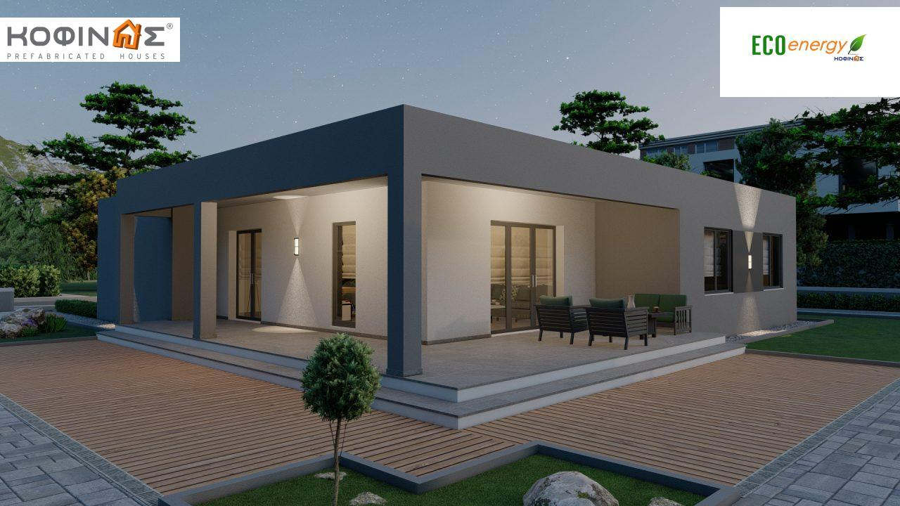 1-story house I-119, total surface of 119,08 m², roofed areas 47,64 m²1