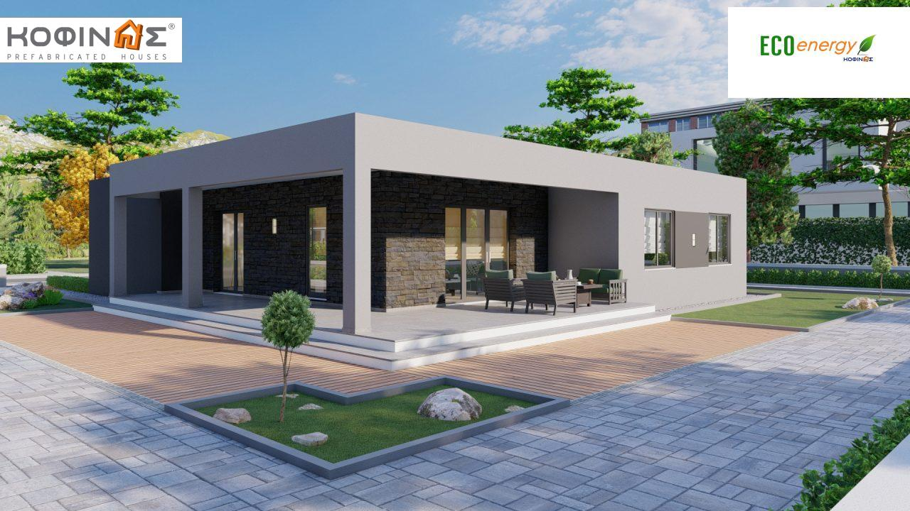 1-story house I-119, total surface of 119,08 m², roofed areas 47,64 m²2