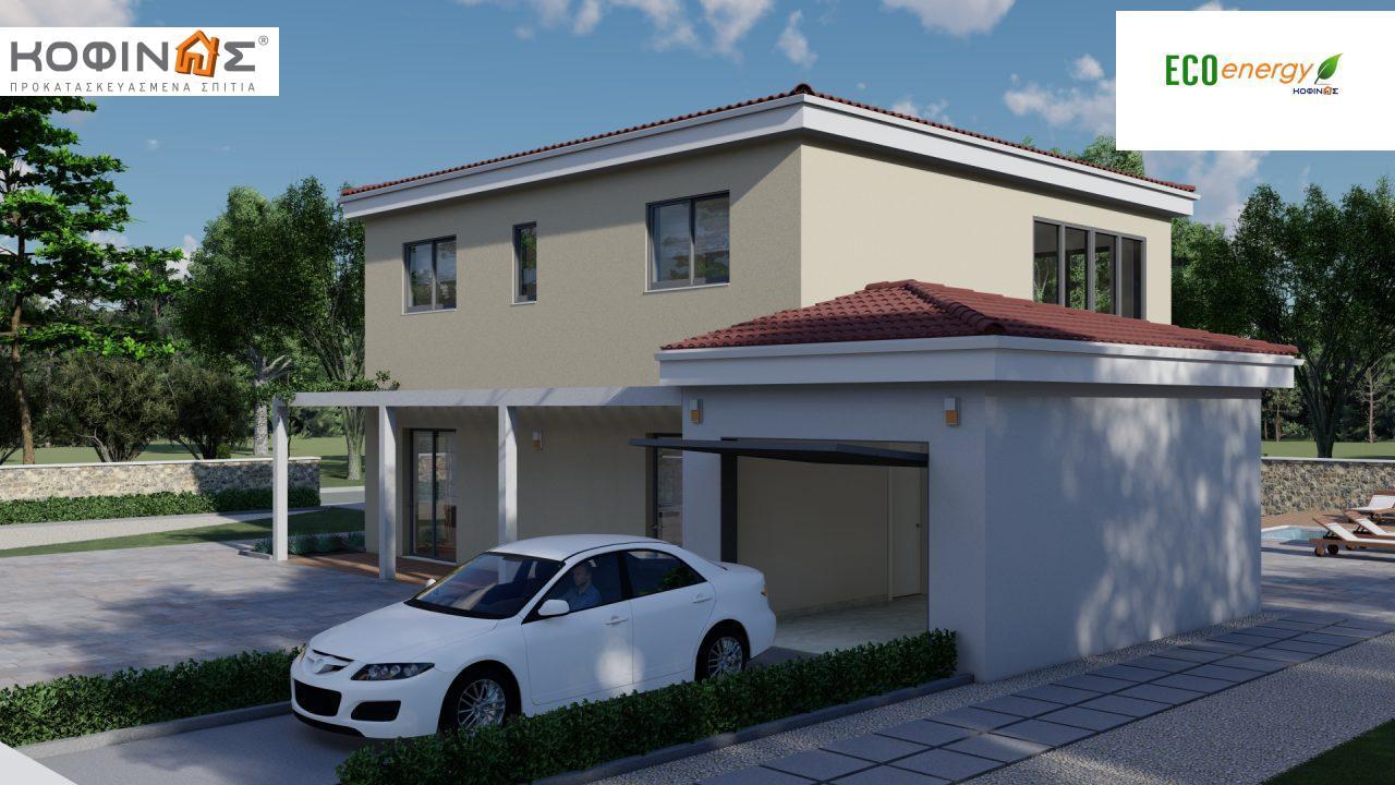 Διώροφη κατοικία D 209, συνολικής επιφάνειας 209,58 τ.μ., στεγασμένοι χώροι 42,84 τ.μ., και μπαλκόνι (περίπτωση Β) 16.56 τ.μ.2