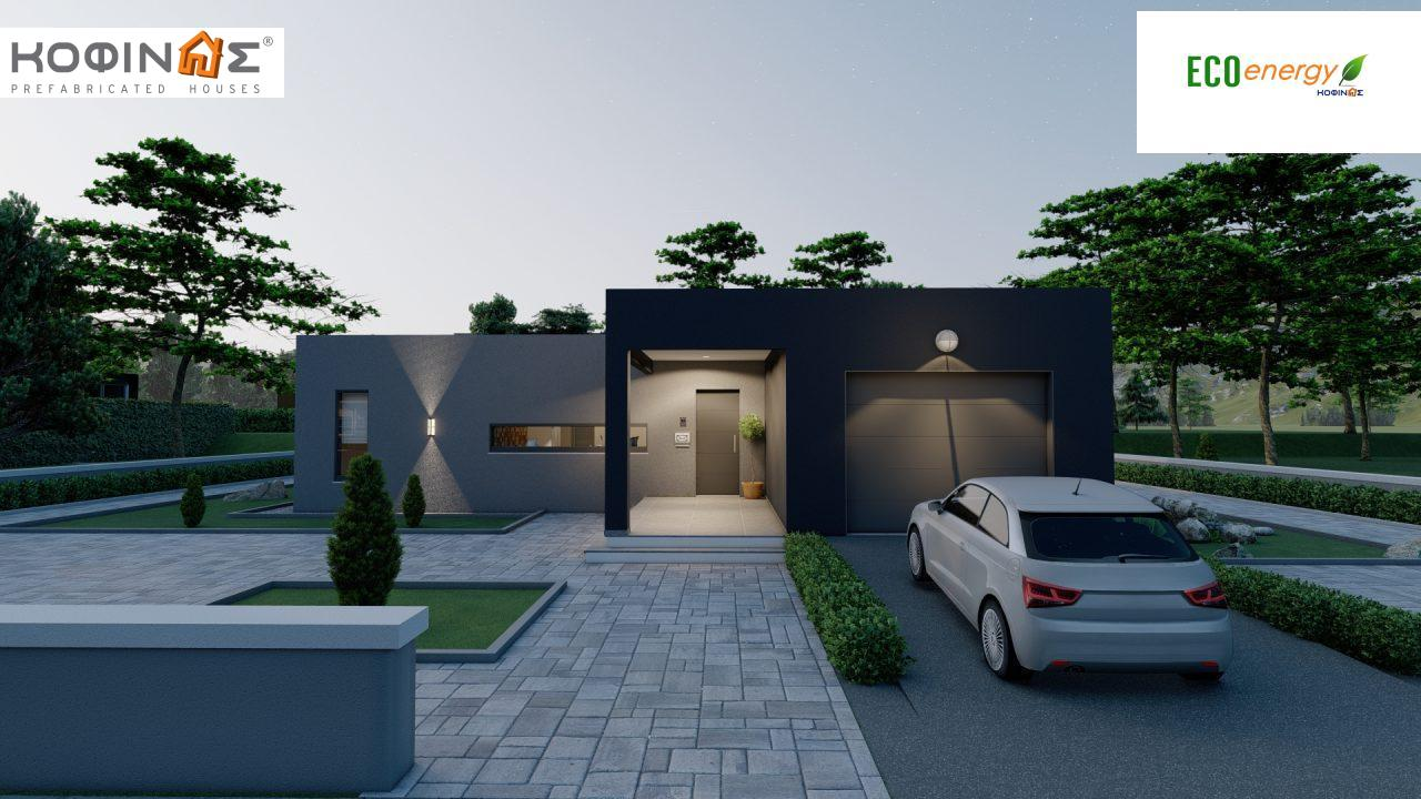 1-story house I-119, total surface of 119,08 m², roofed areas 47,64 m²3
