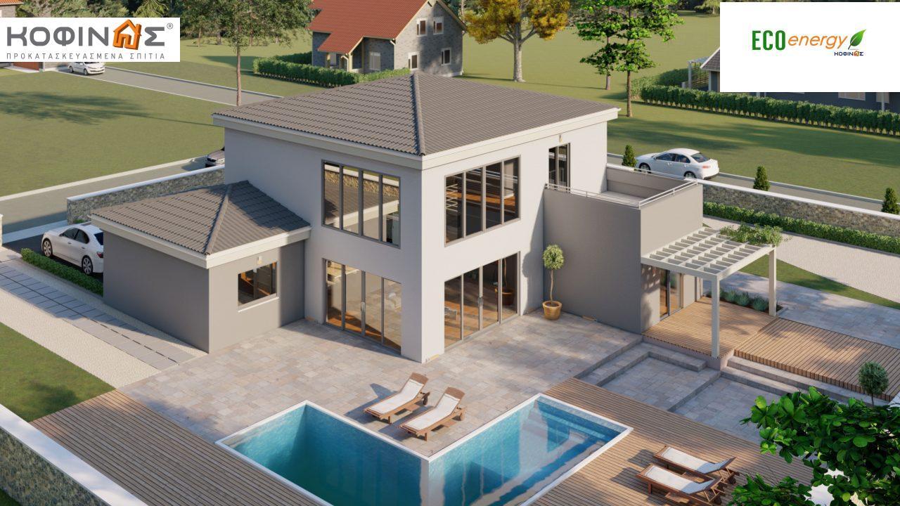 Διώροφη κατοικία D 183, συνολικής επιφάνειας 183,34 τ.μ.,+Γκαράζ 26,11 m²(=209,45 m²), στεγασμένοι χώροι 42,84 τ.μ., και μπαλκόνι (περίπτωση Β) 16.56 τ.μ.4