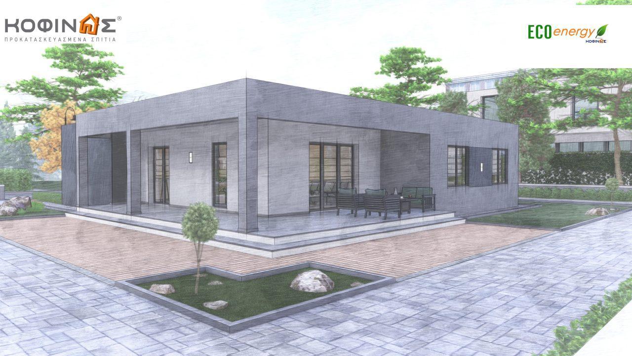 Ισόγεια Κατοικία I-119, συνολικής επιφάνειας 119,08 τ.μ., +Γκαράζ 25.80 m²(=144,88 m²),συνολική επιφάνεια στεγασμένων χώρων 47,64 τ.μ.4