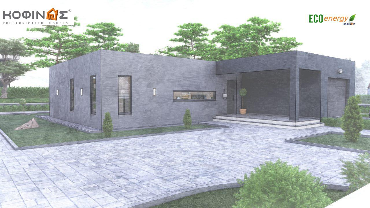 1-story house I-119, total surface of 119,08 m², roofed areas 47,64 m²5