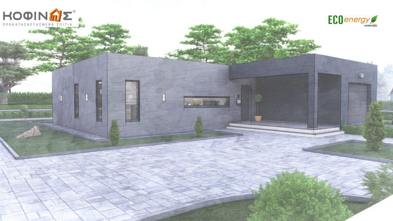 Ισόγεια Κατοικία I-119, συνολικής επιφάνειας 119,08 τ.μ., +Γκαράζ 25.80 m²(=144,88 m²),συνολική επιφάνεια στεγασμένων χώρων 47,64 τ.μ.5