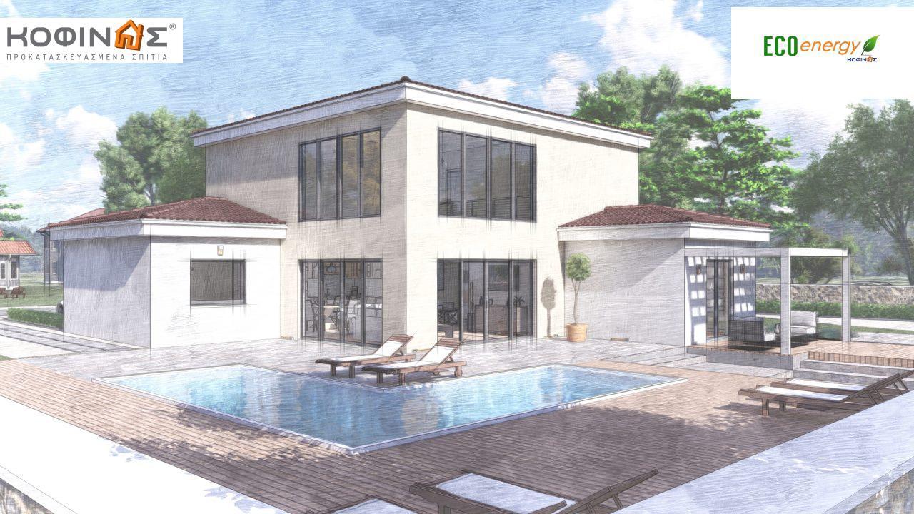 Διώροφη κατοικία D 209, συνολικής επιφάνειας 209,58 τ.μ., στεγασμένοι χώροι 42,84 τ.μ., και μπαλκόνι (περίπτωση Β) 16.56 τ.μ.6