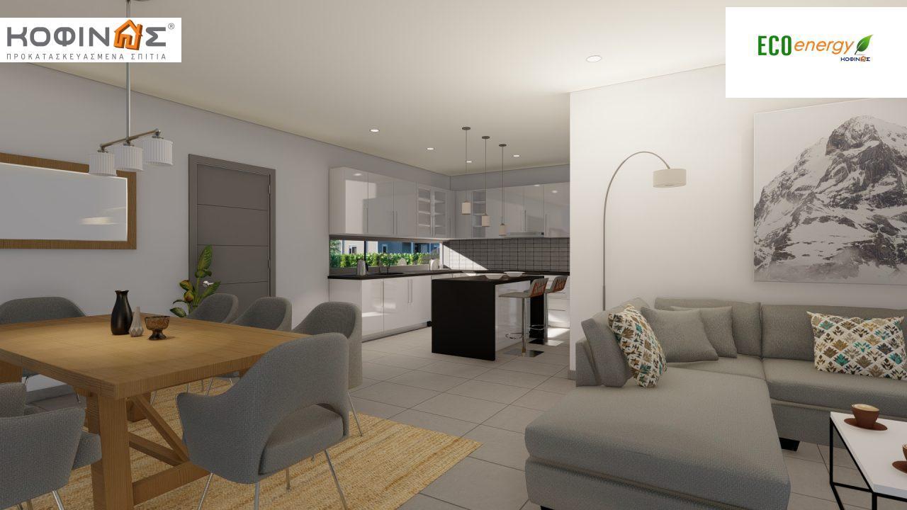 Ισόγεια Κατοικία I-119, συνολικής επιφάνειας 119,08 τ.μ., +Γκαράζ 25.80 m²(=144,88 m²),συνολική επιφάνεια στεγασμένων χώρων 47,64 τ.μ.7