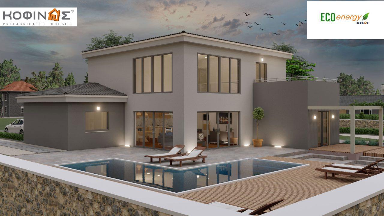 Διώροφη κατοικία D 183, συνολικής επιφάνειας 183,34 τ.μ.,+Γκαράζ 26,11 m²(=209,45 m²), στεγασμένοι χώροι 42,84 τ.μ., και μπαλκόνι (περίπτωση Β) 16.56 τ.μ.5