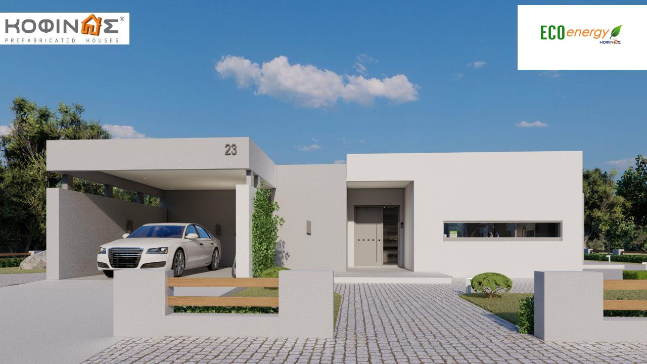 1-story house Ι-140Α, total surface of 140,33 m², +Garage 27.51 m²(=167,84 m²), roofed areas 45,30 m² and 44,71 m² for version Β featured image