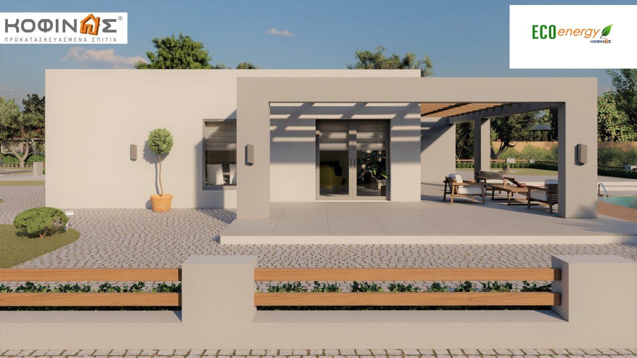 Ισόγεια Κατοικία I-140Α, συνολικής επιφάνειας 140,33 τ.μ., στεγασμένοι χώροι 45,30 τ.μ. και 44,71 τ.μ. για περίπτωση Β0