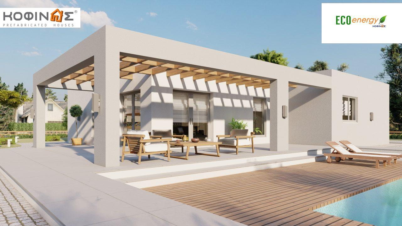 1-story house Ι-140Α, total surface of 140,33 m², +Garage 27.51 m²(=167,84 m²), roofed areas 45,30 m² and 44,71 m² for version Β1