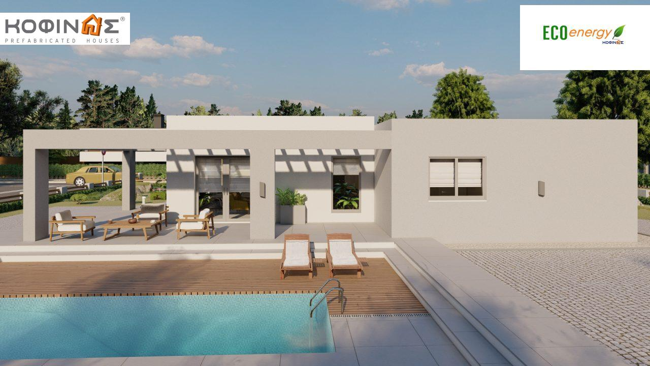 1-story house Ι-140Α, total surface of 140,33 m², +Garage 27.51 m²(=167,84 m²), roofed areas 45,30 m² and 44,71 m² for version Β2