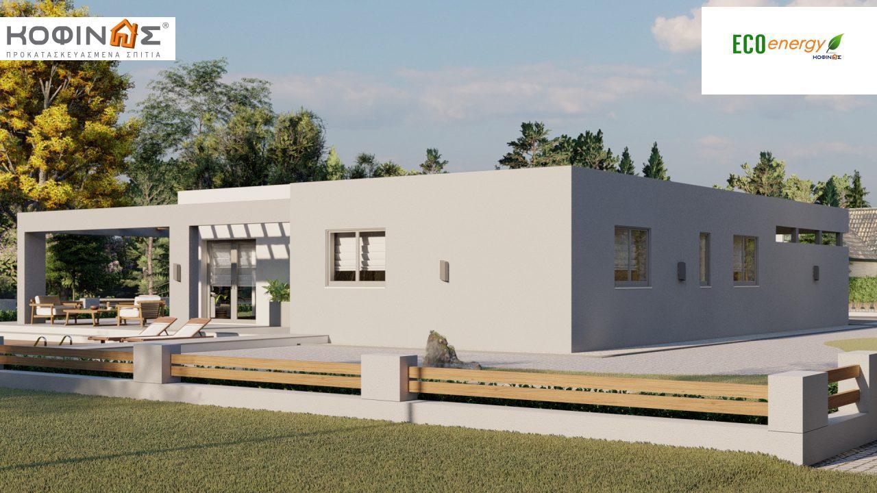 Ισόγεια Κατοικία I-140Α, συνολικής επιφάνειας 140,33 τ.μ., στεγασμένοι χώροι 45,30 τ.μ. και 44,71 τ.μ. για περίπτωση Β4