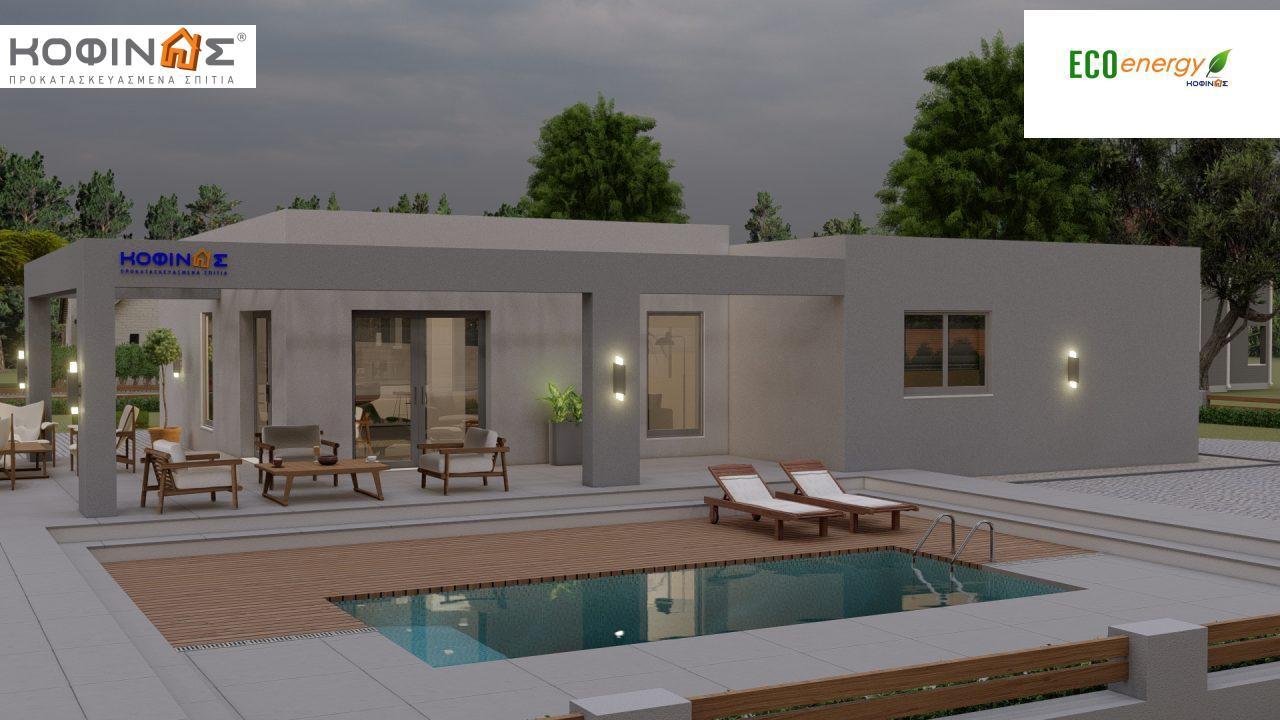 Ισόγεια Κατοικία I-140Α, συνολικής επιφάνειας 140,33 τ.μ., στεγασμένοι χώροι 45,30 τ.μ. και 44,71 τ.μ. για περίπτωση Β5