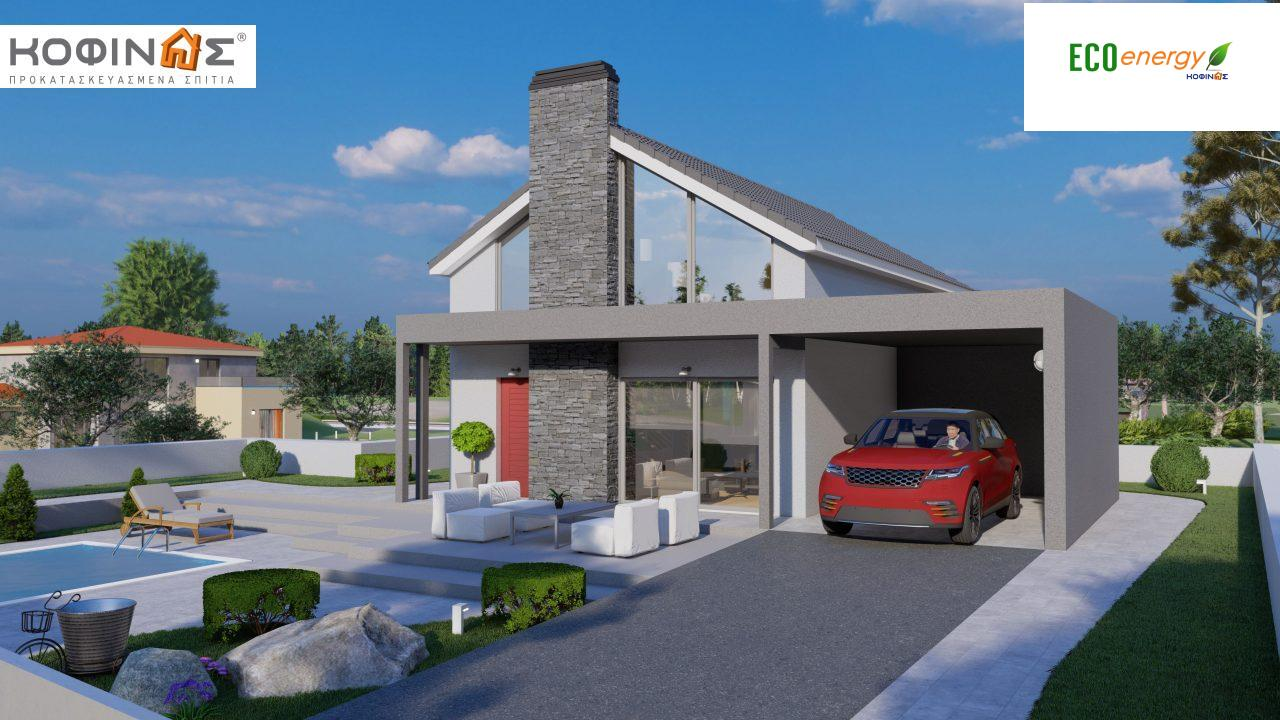1-story house with attic IS-123, total surface of 123,25 m², +Garage 27. 08 m²(=150.33 m²),roofed areas 10,50 m² featured image