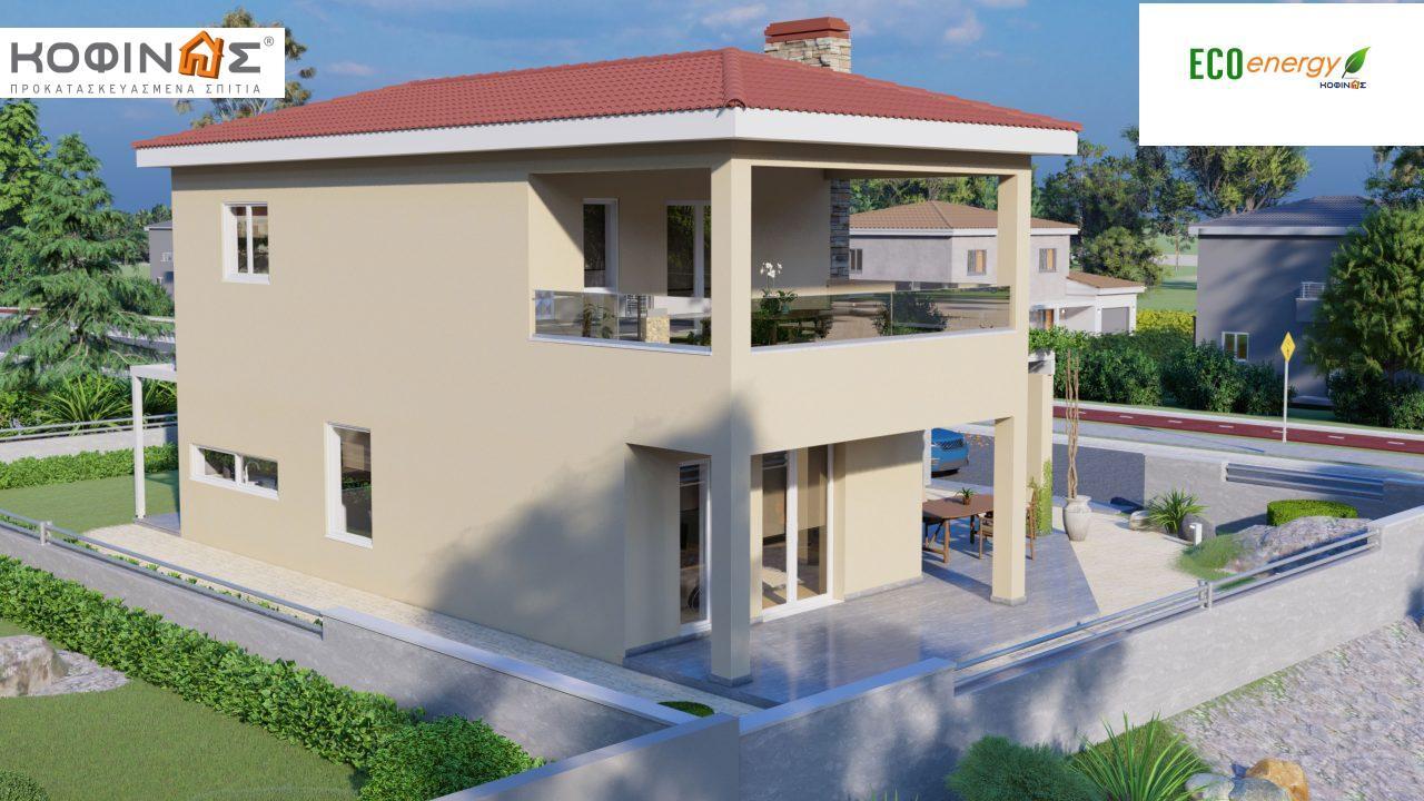 Διώροφη Κατοικία D-149, συνολικής επιφάνειας 149,13 τ.μ., συνολική επιφάνεια στεγασμένων χώρων 36.47 τ.μ., μπαλκόνι 19.22 τ.μ.1
