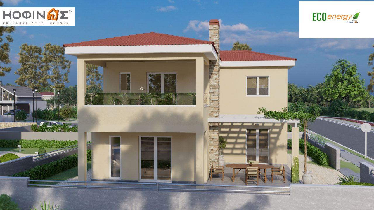 2-story house D-149, total surface of 149,13 m²,roofed areas 36.47 m²,balconies 19.22 m²0