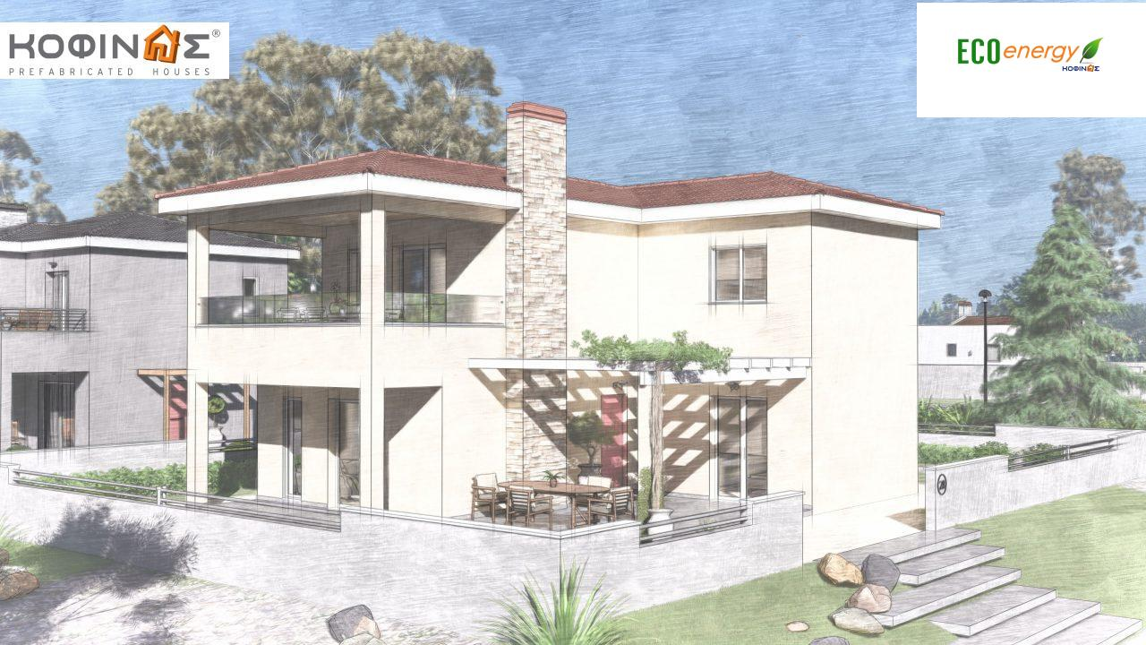 2-story house D-149, total surface of 149,13 m²,roofed areas 36.47 m²,balconies 19.22 m²4