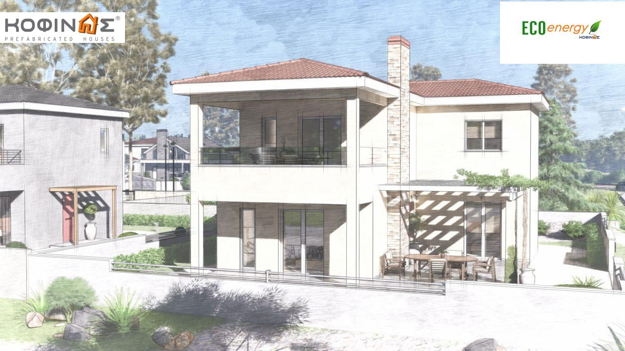 2-story house D-149, total surface of 149,13 m²,roofed areas 36.47 m²,balconies 19.22 m²5