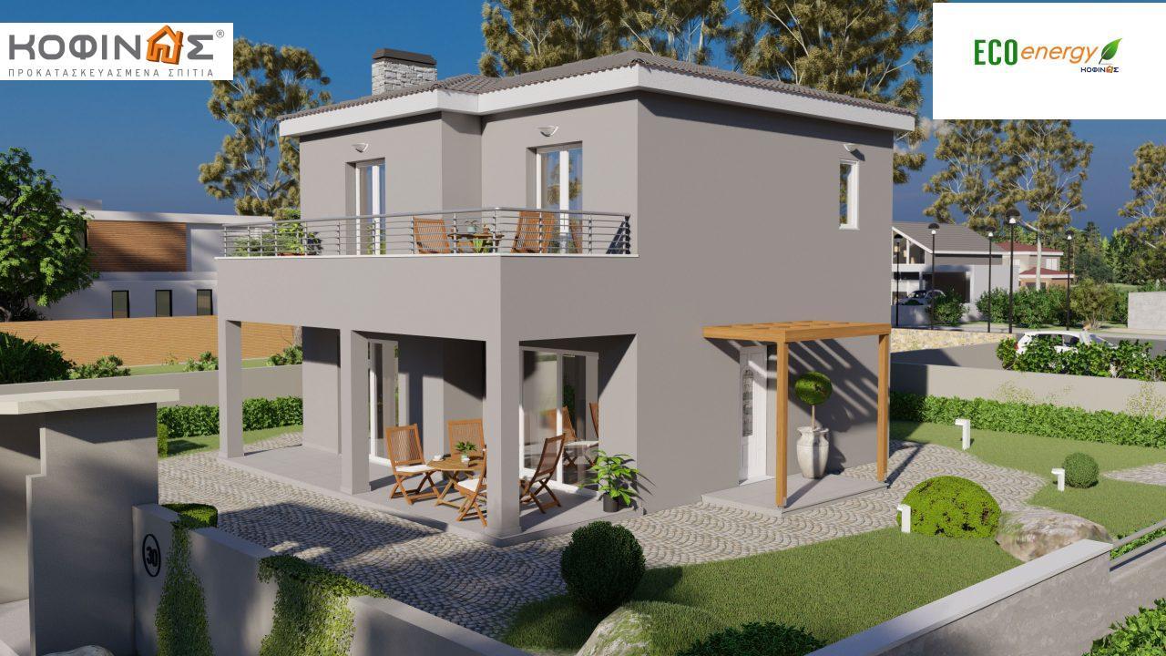 Διώροφη κατοικία D-115, συνολικής επιφάνειας 115,58, συνολική επιφάνεια στεγασμένων χώρων 24,33 τ.μ., μπαλκόνια 20,14 τ.μ. featured image