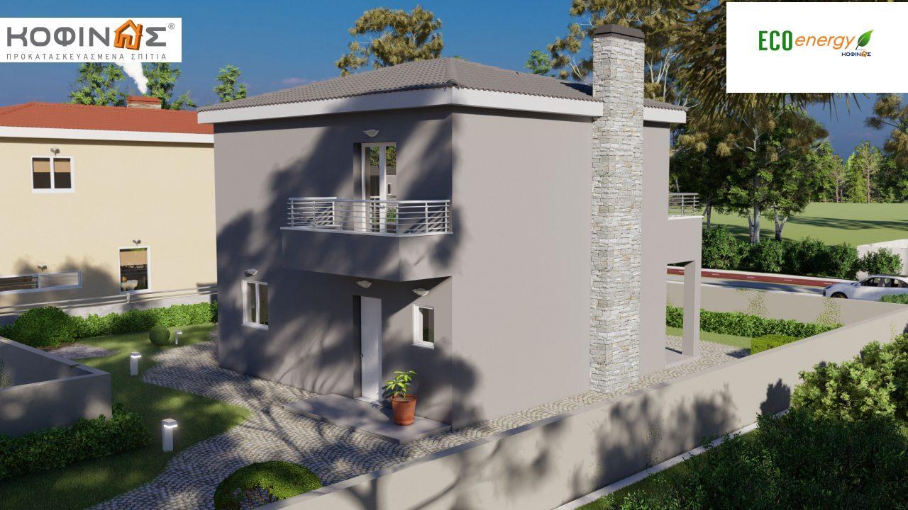 Διώροφη κατοικία D-115, συνολικής επιφάνειας 115,58, συνολική επιφάνεια στεγασμένων χώρων 24,33 τ.μ., μπαλκόνια 20,14 τ.μ.0