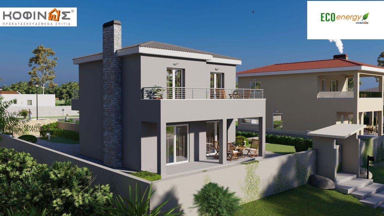 Διώροφη κατοικία D-115, συνολικής επιφάνειας 115,58, συνολική επιφάνεια στεγασμένων χώρων 24,33 τ.μ., μπαλκόνια 20,14 τ.μ.5