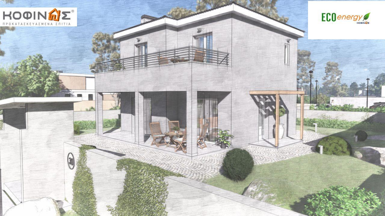 Διώροφη κατοικία D-115, συνολικής επιφάνειας 115,58, συνολική επιφάνεια στεγασμένων χώρων 24,33 τ.μ., μπαλκόνια 20,14 τ.μ.6