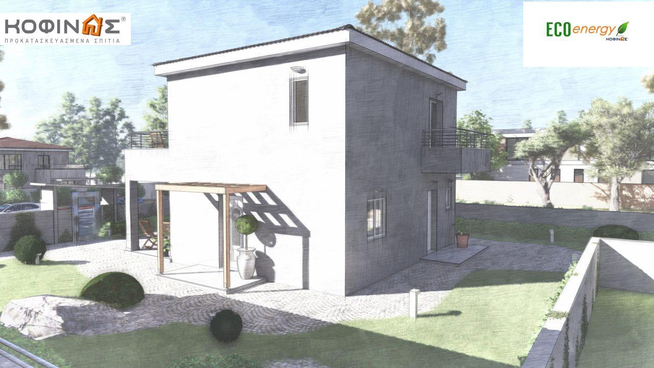 Διώροφη κατοικία D-115, συνολικής επιφάνειας 115,58, συνολική επιφάνεια στεγασμένων χώρων 24,33 τ.μ., μπαλκόνια 20,14 τ.μ.7